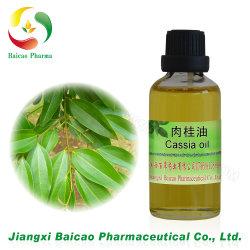 100%の純粋で自然で必要なカシア桂皮オイル、シナモンオイル、桂皮オイル、シナモンスティックオイル