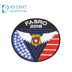 Criador do emblema Logotipo da equipa de Futebol Escolar Stick no exército militar 3D pano tecido Magnético Lado Bullion Fio Patch bordados de Bolso Blazer Monograma tecidos personalizados
