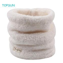 As crianças bebé quente e suave Branco Cachecol com duas camadas de Outono Inverno Velo Kids lenço colar as crianças mais quentes do pescoço Cachecol 1-6y