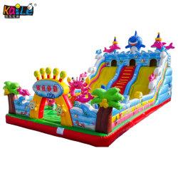 Big agiter un terrain de jeux gonflables géants Bouncer château gonflable avec drôle d'obstacle