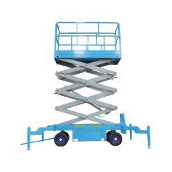 Kinglift 6m 8m, 10m, 12m Operações High-Altitude 500kg móvel eléctrico hidráulico elevador de tesoura para trabalho de antena na fábrica industrial de oficina