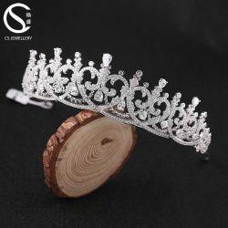 Caliente la venta de Accesorios de Cabello de moda nupcial de boda Tiara de cristal