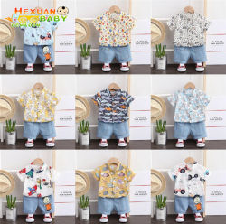 O bebé rapazes conjuntos de roupas casuais Verão Kids Boy Fatos de duas peças de vestuário Calções e T Shirt Bonitinha crianças Vestuário