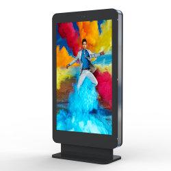 75 Inch libre panneau LCD permanent de la signalisation numérique LCD haute luminosité de la publicité de plein air Totem Smart City Station de bus