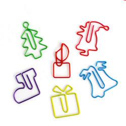 Funny Escritório dons tamanhos pequenos e cores sortidas formas animais fofos clipes de papel