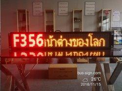 Einzelne Zeile Doppel-Farbe LED Bus-Weg stoppt Zeichen mit siamesischer Sprache