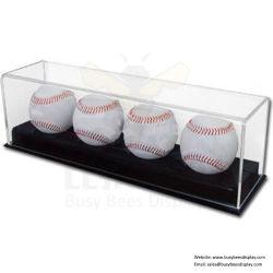 Acrílico bola de béisbol preciosos cuadros de pantalla / Racks fabricante de China
