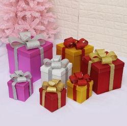 Shopping Mall Showcase affiche des arbres de Noël coffrets cadeaux dépoli