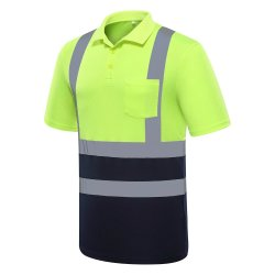 High Visibility Quick Dry Reflective Polo T-Shirt Voor Volwassenen Night Running