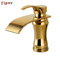 Neues Design Einhebelbad Warmwassermischer Wasserhahn Wasserfall Golden Hahn