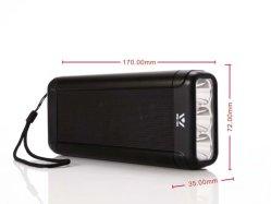 Potência de metal Bank Colunas Bluetooth Wsa-845 com TF FM USB Tws Sist lanterna