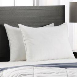 Polyester en katoen donzen veren Soft Luxury Home Textiel Decoratie Comfortabele kussens met latex-print en memory foam Manufacture Hotel Bed Neck Sham Pillow