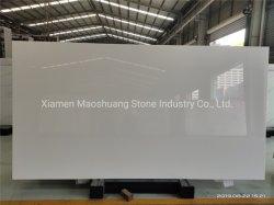 Marmoglass/Nano blanc cristallisé pour dalle de pierre de verre/Tile/panneau/comptoir mural
