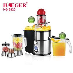 Haeger Home en Commercial Appliance High Speed fruit en groenten Sapcentrifuge blender voor etenswaren