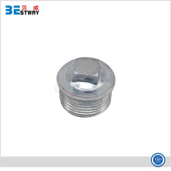 Acessórios para tubos de ferro fundido maleável galvanizado o bujão da tampa da extremidade de gi
