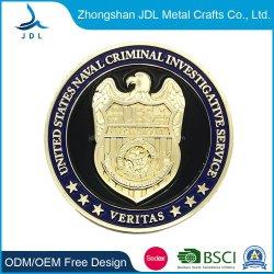 亜鉛合金の骨董品のめっきの金属のドッグタッグの火かき棒の硬貨(070)