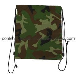 最新の製品によってカスタマイズされるロゴ環境に優しい耐久ポリエステルドローストリング袋
