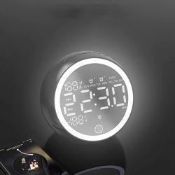 Tisch-Digital-Alarmuhr-Radio Bluetooth Lautsprecher mit LED-Licht