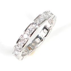 Sterlingsilber-Diamant-Schmucksache-einfacher Streifen-Ring der Form-Schmucksache-925