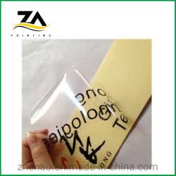 Etiqueta adhesiva personalizada impreso sobre papel de transferencia de la impresión de etiquetas PVC adhesivo