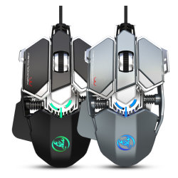 熱い販売RGB 7は冷却ファンの賭博マウスを持つ賭博マウスUSBのコンピュータマウスGamer 7200匹のDpiによってワイヤーで縛られるマウスにボタンをかける