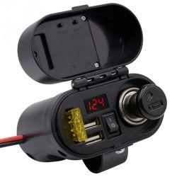 De Motorfiets van de Uitrusting van de contactdoos levert de Waterdichte Lader USB van de Aansteker