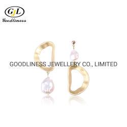 925 Shell Barroco jóias de prata brincos de pérola