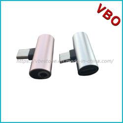 充満音楽携帯電話のための1個の可聴周波アダプターに付き補助のヘッドホーンのジャックのディバイダーケーブル3.5 mmのへの多機能のタイプCアダプターの可聴周波コンバーターUSBの2個