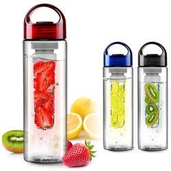 24 bottiglie di acqua di Infuser della frutta dell'oncia Tritan, bottiglia della maniglia della vite della prova della perdita per l'acqua al gusto di frutta, spremuta, hanno ghiacciato il tè, la limonata, la soda e più