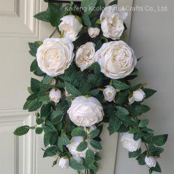 زهرة الحرير الفاخرة الزهرة منزل تزيين مصطنع زهرة معلقة زهرة السلة