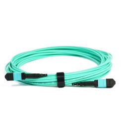 Premium 12f 24f MPO Coeurs Patchcord optique Sm mm Om3 Om4 Câble de pontage d'agrégation cordon de raccordement à fibre optique