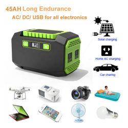 45ah 1.6kg الطاقة الكهربية للسيارة المنزلية القابلة لإعادة الشحن AC DC الكمبيوتر المحمول النسخ الاحتياطي للتنزه في الغابات