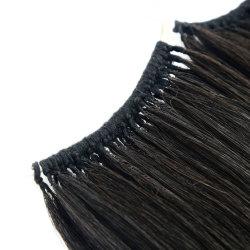 لون أسود الإنسان لا طرف شكل جهاز تهوية تمديدات الشعر الكيراتين الشعر العذراء ريمي