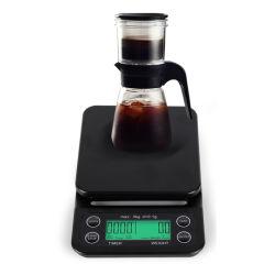 신제품 3000g/0.1g LCD 타이머 커피 스케일 전자 음식 무게 눈금