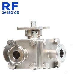 Рч-Ll тип гигиены 304 из нержавеющей стали Dn 40 четыре отверстия в полном объеме по платформе шаровой клапан