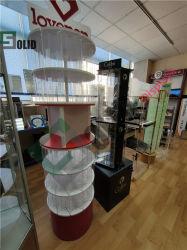 Ver piso de acrílico transparente de plexiglás de bloqueo de pantalla con piso de acrílico transparente almacén supermercado Soporte Soporte de pantalla