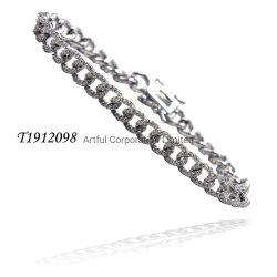Moda Jóias New Style Prata pulseira com zircão cúbico