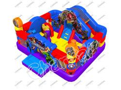 Câble de pontage château gonflable Combo piscine avec toboggan bouncer