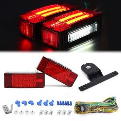 Sumergibles de remolque Kit de Luz LED Super brillante deje de girar la ejecución de la cola del freno de la matrícula trasera para camiones Camper RV Van Marine LED Rectangular Kit de luces del remolque