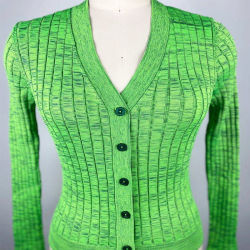 Lente New Style Dames Striped Knitting Sweater Green Cardigan