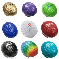 PU cerebro forma de bola de calmante para el estrés El estrés de juguete antiestrés