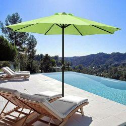 10' de l'inclinaison de la plage de Patio de la piscine en plein air parapluie Parapluie de table avec 8 côtes de l'acier Sun Garden Parasol Parasol