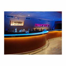 Сборные изогнутые Krion бар счетчик моды роскошь стильный изогнутый Кафе круглый светодиодный индикатор горит современное кафе бар счетчик