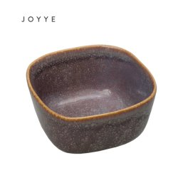 De Ceramische Speciale Verglaasde Purpere Vierkante Kom van uitstekende kwaliteit