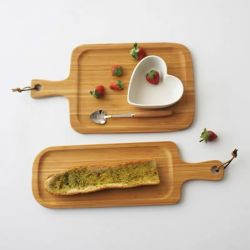 100% de madera de bambú Pizza Pan Queso Accesorios de cocina