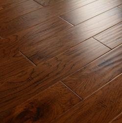 Bois de feuillus solide Hickory part rayé Engineered Flooring