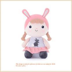 Het originele Speelgoed van Doll van het Vod van de Doek van het Meisje van het Speelgoed Mooie Roze Zoete Meisje Gevulde