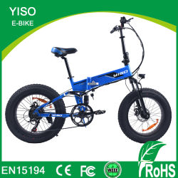 """del mini abbonato pieghevole pieno della neve dei 20 """" bici grassa elettrica/Bicycle/E-Bicycle capretti della sospensione di 48V 500W /1000W"""