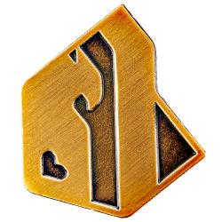 Индивидуальный логотип металлический значок латунной утюг или оцинкованные сплава