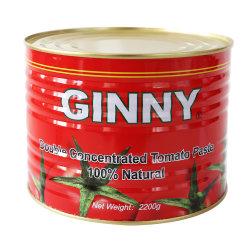 Paste di pomodoro Ginny Paste di pomodoro a buon mercato 70 g, 210 g, 400 g, 2200 g per l'Africa